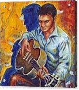 Elvis Presley- Shadow Duet Acrylic Print