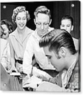 Elvis Presley Signing Autographs For Fans 1956 Acrylic Print
