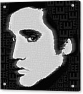 Elvis Presley Silhouette On Black Acrylic Print