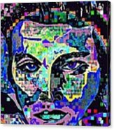 Elvis The King Abstract Acrylic Print