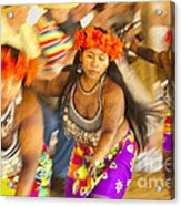 Embera Villagers In Panama Acrylic Print