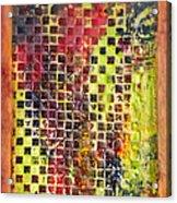 Embossed Blocks Encaustic Acrylic Print