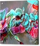 Embossed Floral Acrylic Print