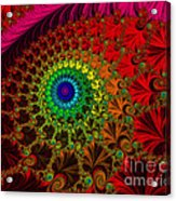 Embroidered Silk And Beads - Horizontal Acrylic Print
