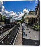 Embsay Railway Station Yorks Dales Acrylic Print