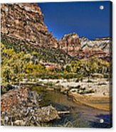 Emeral Pools Trail - Zion Acrylic Print