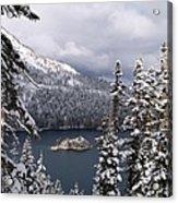 Emerald Bay In Winter Acrylic Print