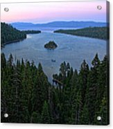 Emerald Bay Sunset Acrylic Print