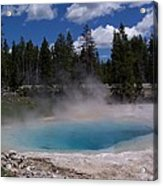 Emerald Crater Pool Acrylic Print