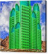Emerald Desert Palm Springs Acrylic Print