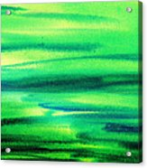 Emerald Flow Abstract I Acrylic Print