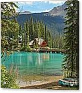 Emerald Lake Lodge Acrylic Print