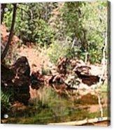 Emerald Pool Reflection Acrylic Print
