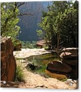 Emerald Pool View Acrylic Print