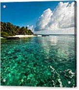 Emerald Purity. Kuramathi Resort. Maldives Acrylic Print