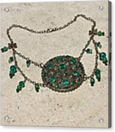 Emerald Vintage New England Glass Works Brooch Necklace 3632 Acrylic Print