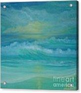 Emerald Waves Acrylic Print