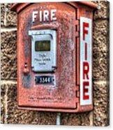Emergency Fire Box Acrylic Print