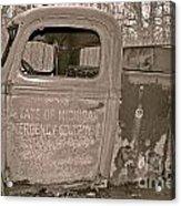 Emergency Truck Acrylic Print