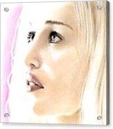 Emilia Clarke Portrait Acrylic Print