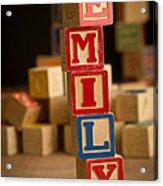 Emily - Alphabet Blocks Acrylic Print