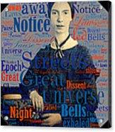 Emily Dickinson Acrylic Print