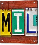 Emily License Plate Name Sign Fun Kid Room Decor Acrylic Print
