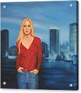 Emily  Miami Skyline Acrylic Print