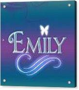 Emily Name Art Acrylic Print