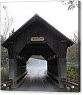 Emily's Bridge Stowe Vermont Acrylic Print