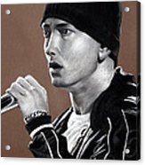 Eminem - Slimshady - Marshall Mathers - Portrait Acrylic Print by Prashant Shah