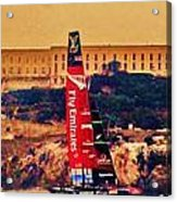 Emirates At Alcatraz Acrylic Print