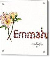 Emmah In Ladybugs Acrylic Print