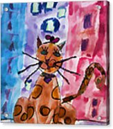 Emma's Spotted Kitty Acrylic Print