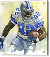 Emmitt Smith Acrylic Print by Michael  Pattison