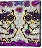 Emo Owls Acrylic Print
