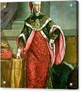 Emperor Francis I 1708-65 Holy Roman Emperor, Wearing The Official Robes Of The Order Of St. Stephan Acrylic Print