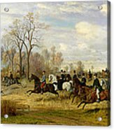 Emperor Franz Joseph I Of Austria Hunting To Hounds With The Countess Larisch In Silesia Acrylic Print