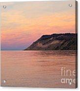 Empire Bluffs Sunset Acrylic Print