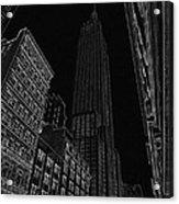 Empire Nyc White On Black Acrylic Print