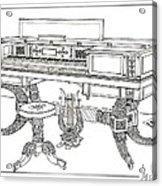 Empire Period Piano 1820 Acrylic Print