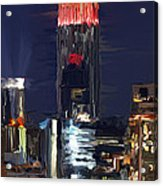 Empire State Buidling On The Water Acrylic Print