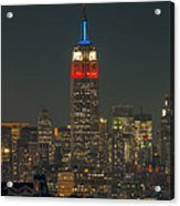 Empire State Building 911 Tribute Acrylic Print