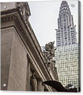 Empire State Building And Grand Central Station Acrylic Print by For Ninety One Days