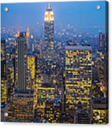 Empire State Building And Midtown Manhattan Acrylic Print