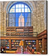Empire State Building At The New York Public Library Acrylic Print