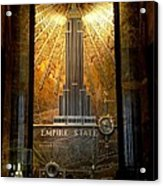 Empire State Building - Magnificent Lobby Acrylic Print