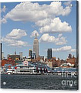 Empire State From The Water Acrylic Print