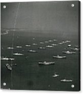 Empire�s Warships Line Up For The Coronation Review At Acrylic Print