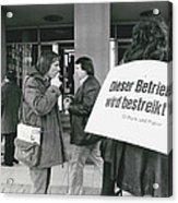 Employees Of Printing - Offices On Strike Throughout Acrylic Print